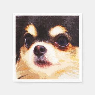 modern big Chihuahua Paper Napkins