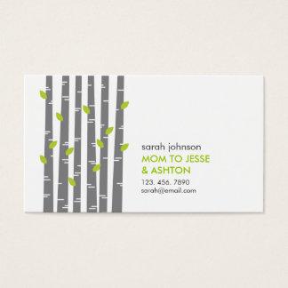 Modern Birch in Grass Mommy Calling Card