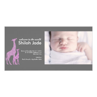 Modern Birth Announcement | No. 16 Personalised Photo Card