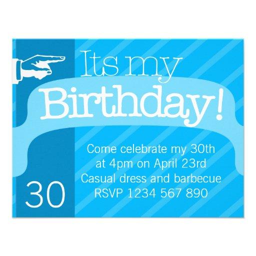 Modern Birthday Invitation Template