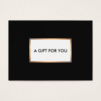 Modern Black and Gold Gift Card