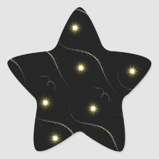 Modern Black And Gold Shooting Stars Sticker