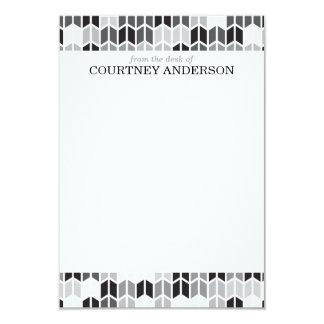 Modern Black and Grey Geometric Pattern Note Cards 9 Cm X 13 Cm Invitation Card