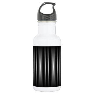 Modern Black and White Bar Pattern 532 Ml Water Bottle