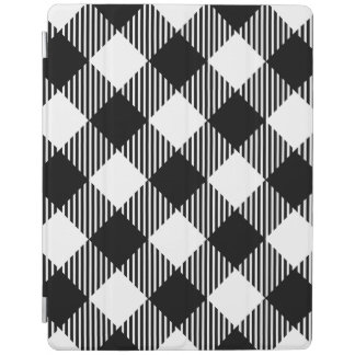 Modern Black and White Check Gingham Pattern iPad Cover