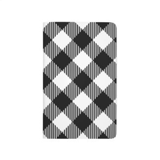 Modern Black and White Check Gingham Pattern Journal
