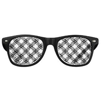 Modern Black and White Check Gingham Pattern Retro Sunglasses