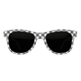 Modern Black and White Check Gingham Pattern Sunglasses