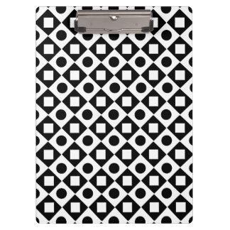 Modern Black and white chic pattern Clipboard