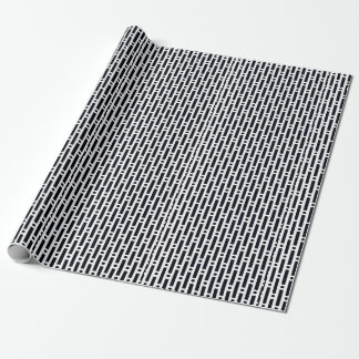 Modern Black and White Circles and Stripes