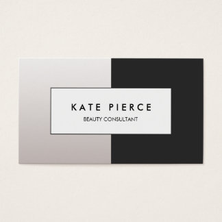 Modern Black and White Colorblock Beauty Salon Business Card