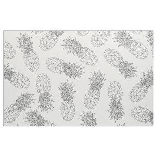 Modern Black and White Geometric Pineapples Fabric
