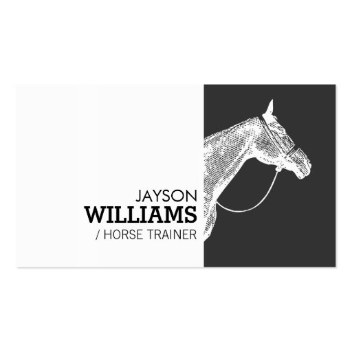 Horse trainer business cards 326 horse trainer busines for Horse trainer business cards