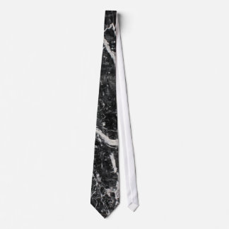 Modern Black and White Marble Pattern Tie