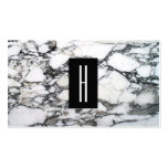 Modern Black and White Marble Stone, Monogram 2 Pack Of Standard Business Cards