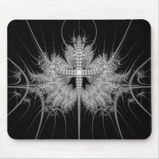 Modern Black and White Mouse Pad