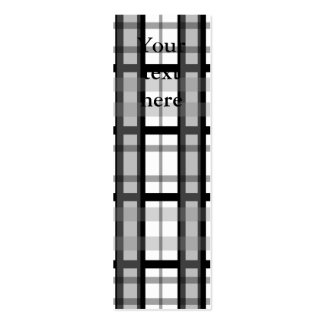Modern black and white plaid business card templates