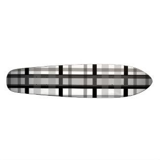 Modern black and white plaid skate board decks