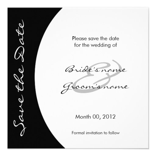 Modern Black and White Save the Date Cards