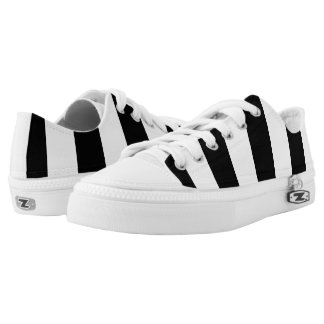 Modern Black and White Stripes Pattern Printed Shoes