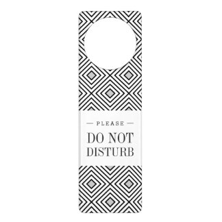 Modern Black And White Stripes Tribal Pattern Door Hanger