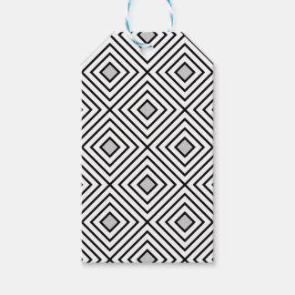 Modern Black And White Stripes Tribal Pattern Gift Tags
