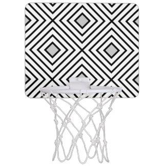 Modern Black And White Stripes Tribal Pattern Mini Basketball Hoop