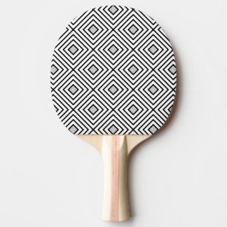 Modern Black And White Stripes Tribal Pattern Ping Pong Paddle