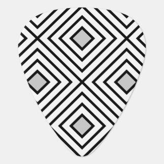 Modern Black And White Stripes Tribal Pattern Plectrum