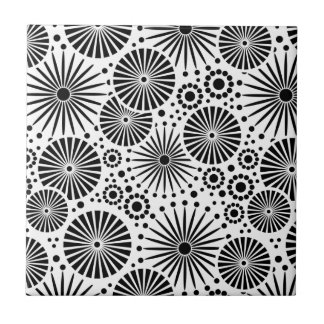 Modern black and white Tile