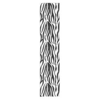 Modern black and white zebra stripes pattern short table runner