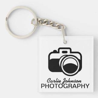 Modern Black Camera Icon Photographer Key Ring
