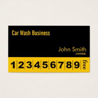 Modern Black Car Wash Business Loyalty Card