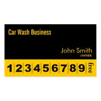 Modern Black Car Wash Business Loyalty Card Pack Of Standard Business Cards