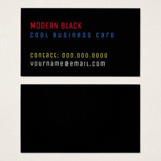 modern black colour text minimalist business card