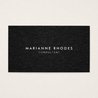 Modern Black Denim Minimalistic Business Card