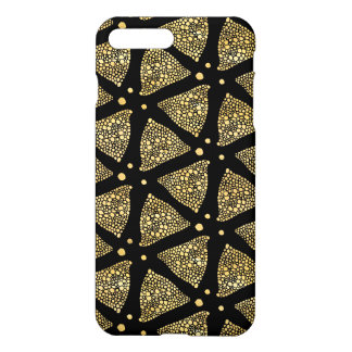Modern Black & Gold Abstract Triangles Pattern iPhone 8 Plus/7 Plus Case
