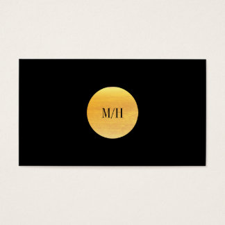 Modern Black & Gold Business Card