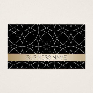 Modern Black & Gold Investigator Business Card