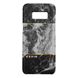Modern Black & Gray Faux Marble Combination 2 Case-Mate Samsung Galaxy S8 Case