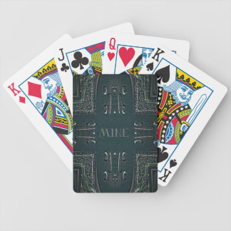 Modern Black Gray 'Mine' Goth Pattern Bicycle Playing Cards