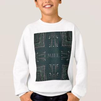 Modern Black Gray 'Mine' Goth Pattern Sweatshirt