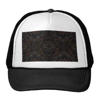 Modern Black Mosaic Pattern Designer Products Trucker Hat