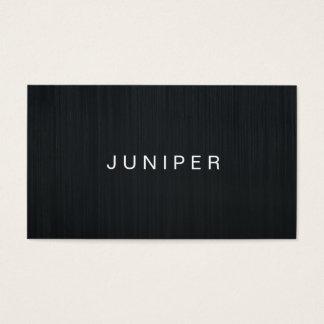 Modern Black Sleek Texture Business Card