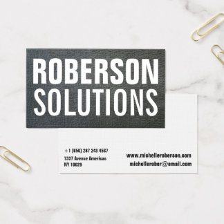 Modern black texture big typography business card