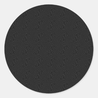 Modern Black Twists Classic Round Sticker