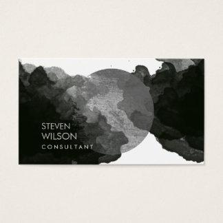 Modern Black Watercolor Elegant Artist Business Card