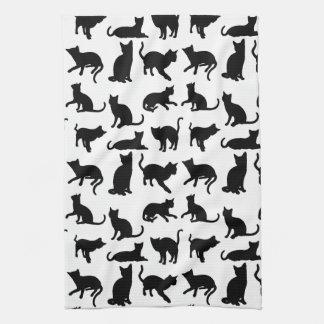 Modern Black & White Cats/Kittens Kitchen Towel