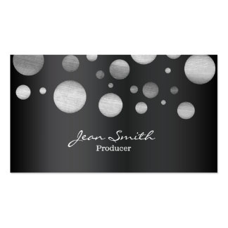 Modern Black & White Dots Producer Business Card