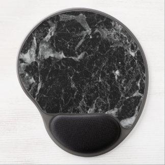 Modern Black White Glam Marble Swirl Chic Trendy Gel Mouse Pad